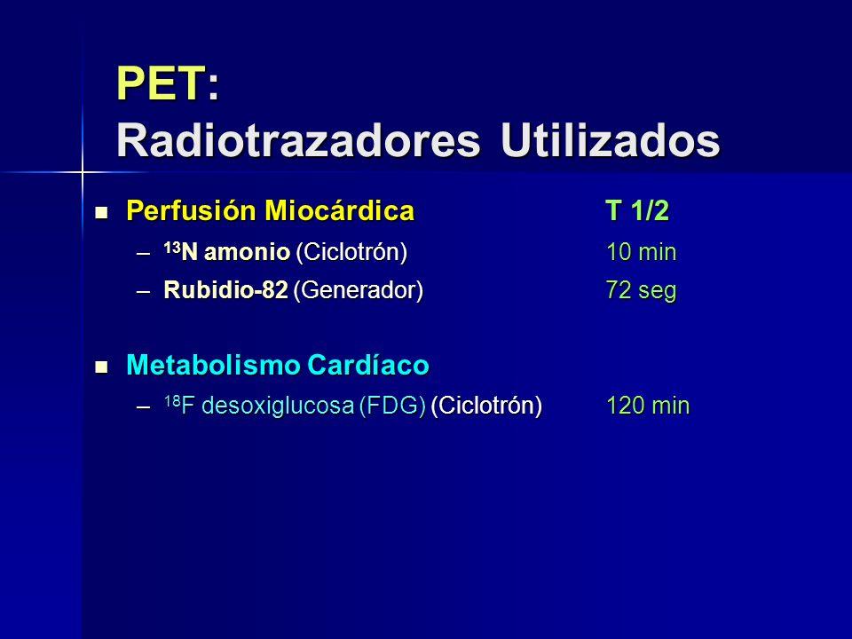 PET: Radiotrazadores Utilizados