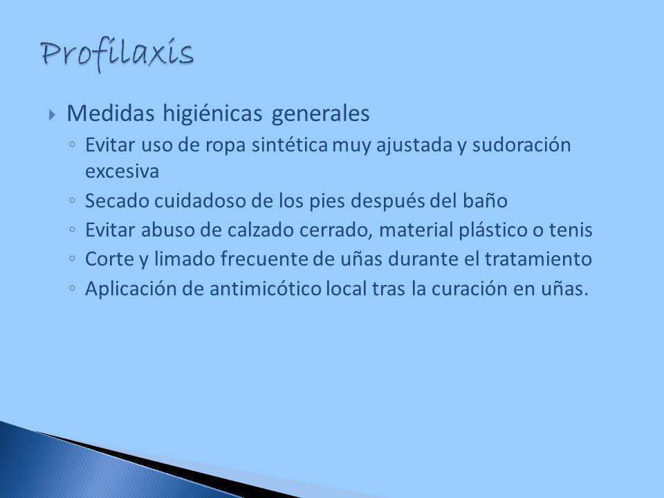 Profilaxis Medidas higiénicas generales