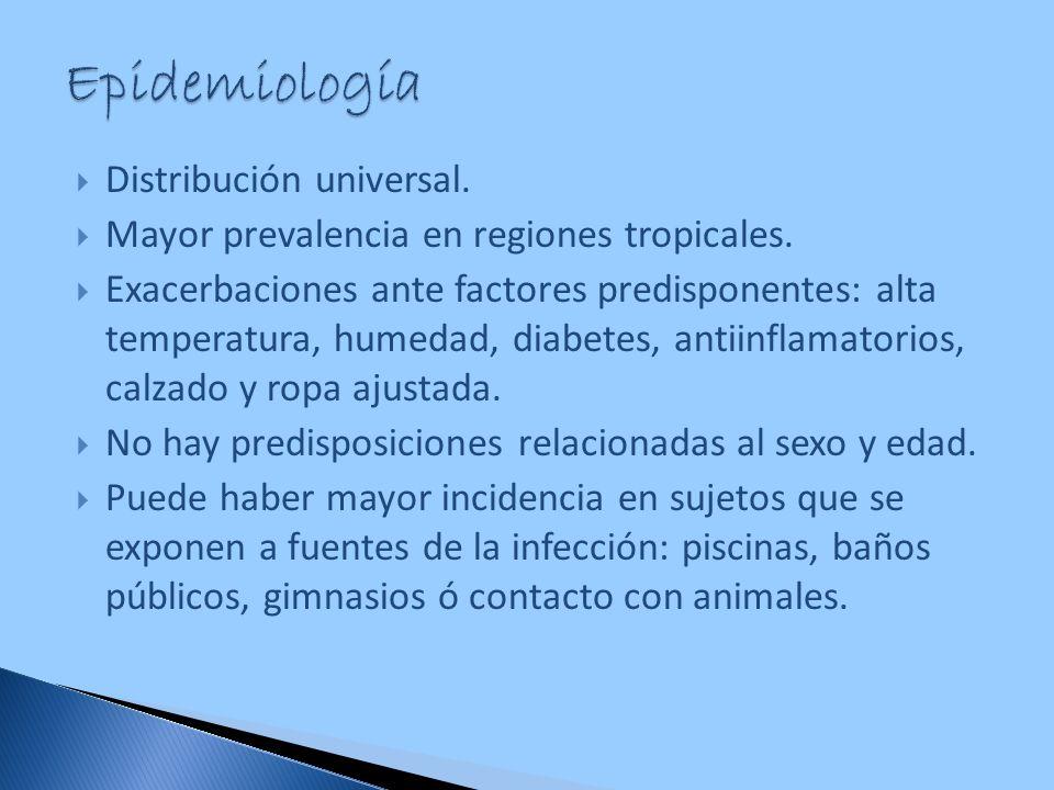Epidemiología Distribución universal.