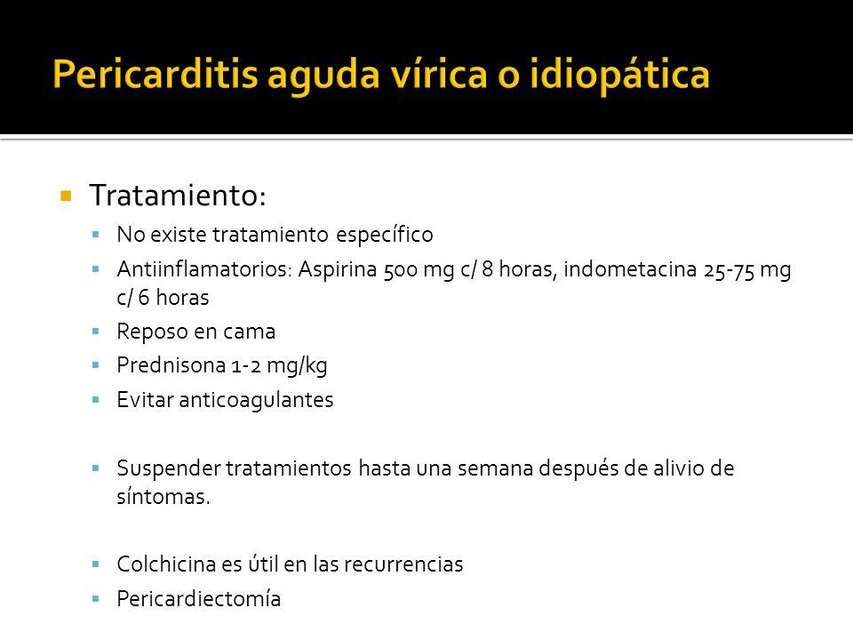 Pericarditis aguda vírica o idiopática