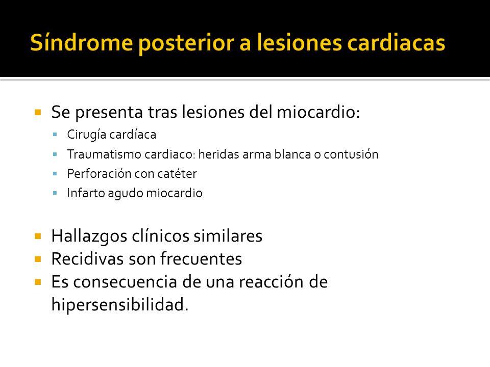Síndrome posterior a lesiones cardiacas