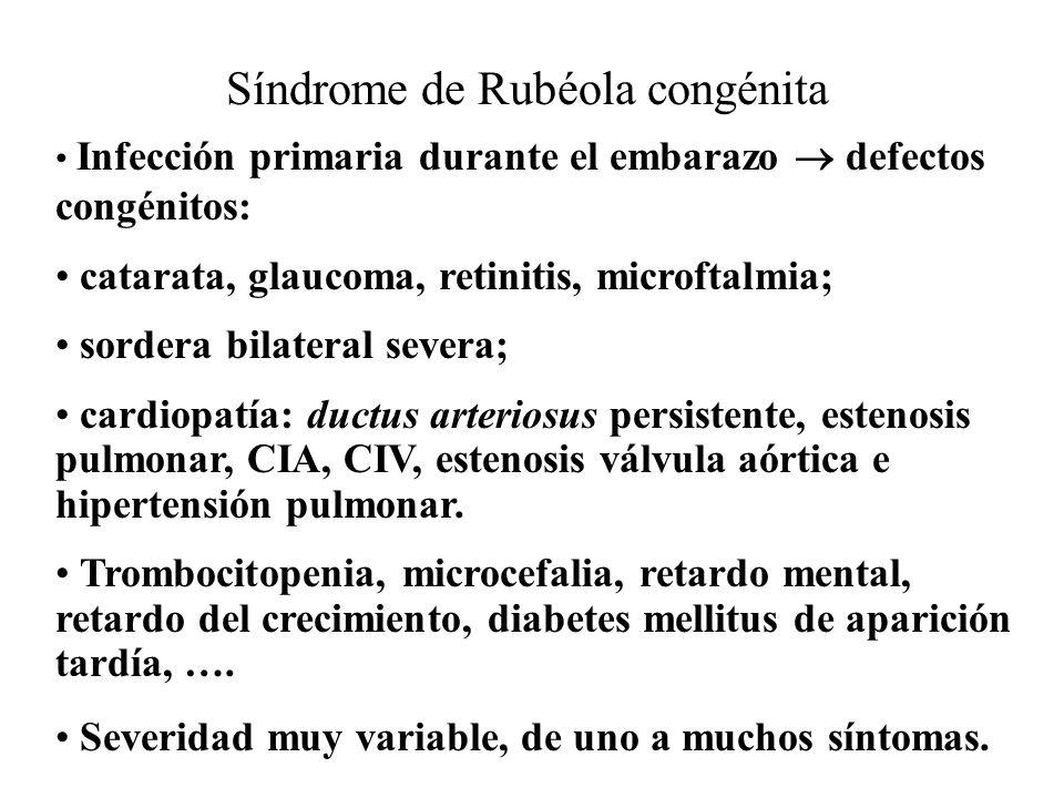 Síndrome de Rubéola congénita