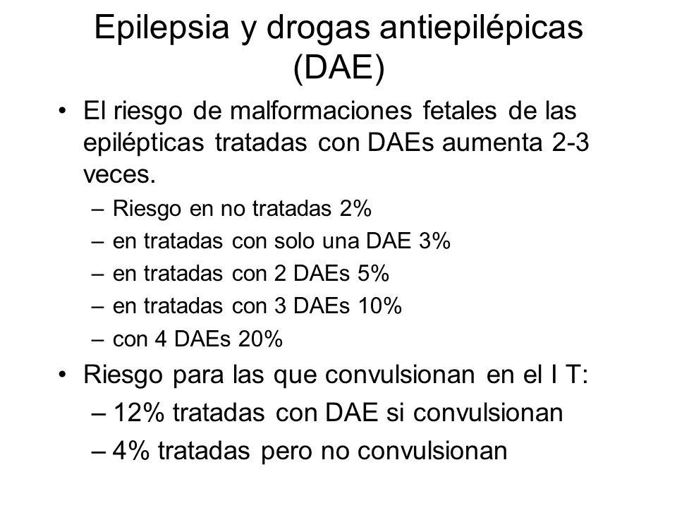 Epilepsia y drogas antiepilépicas (DAE)