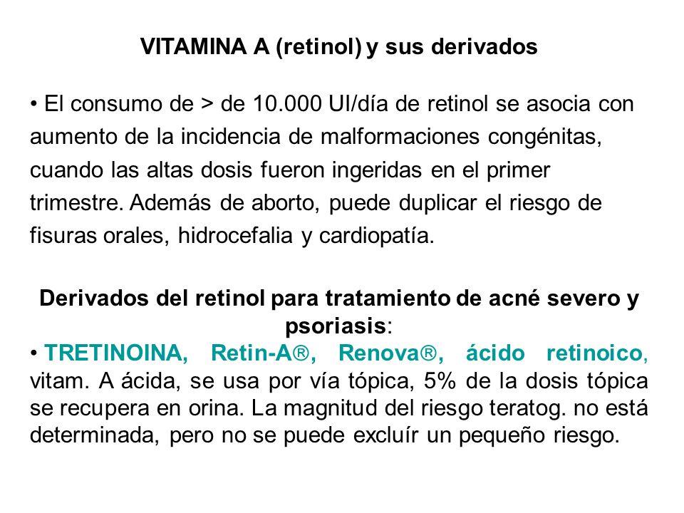 VITAMINA A (retinol) y sus derivados