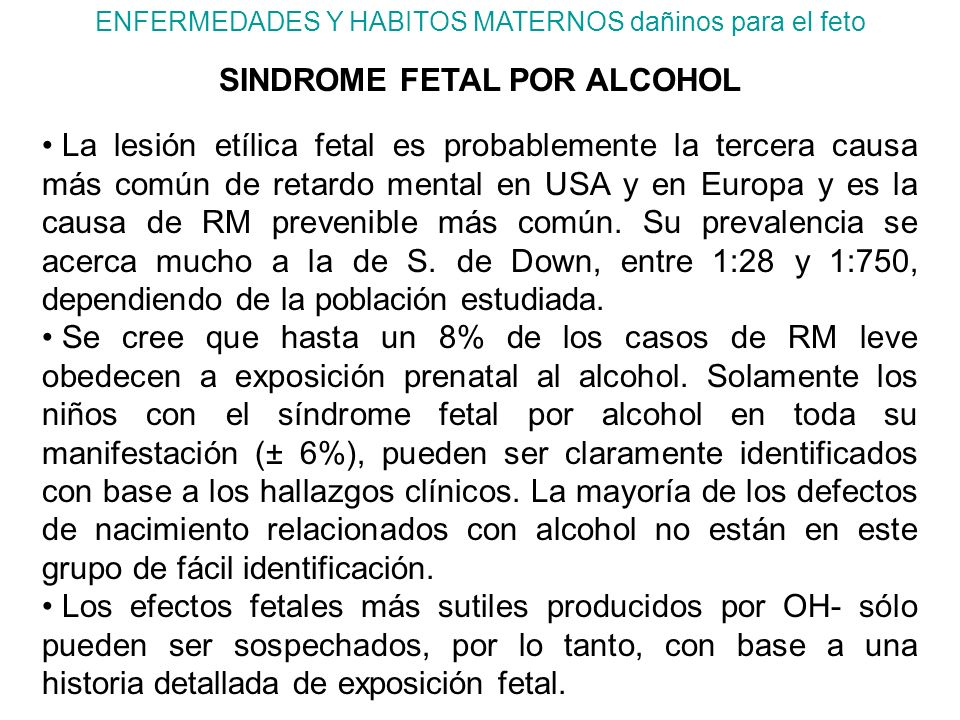 SINDROME FETAL POR ALCOHOL