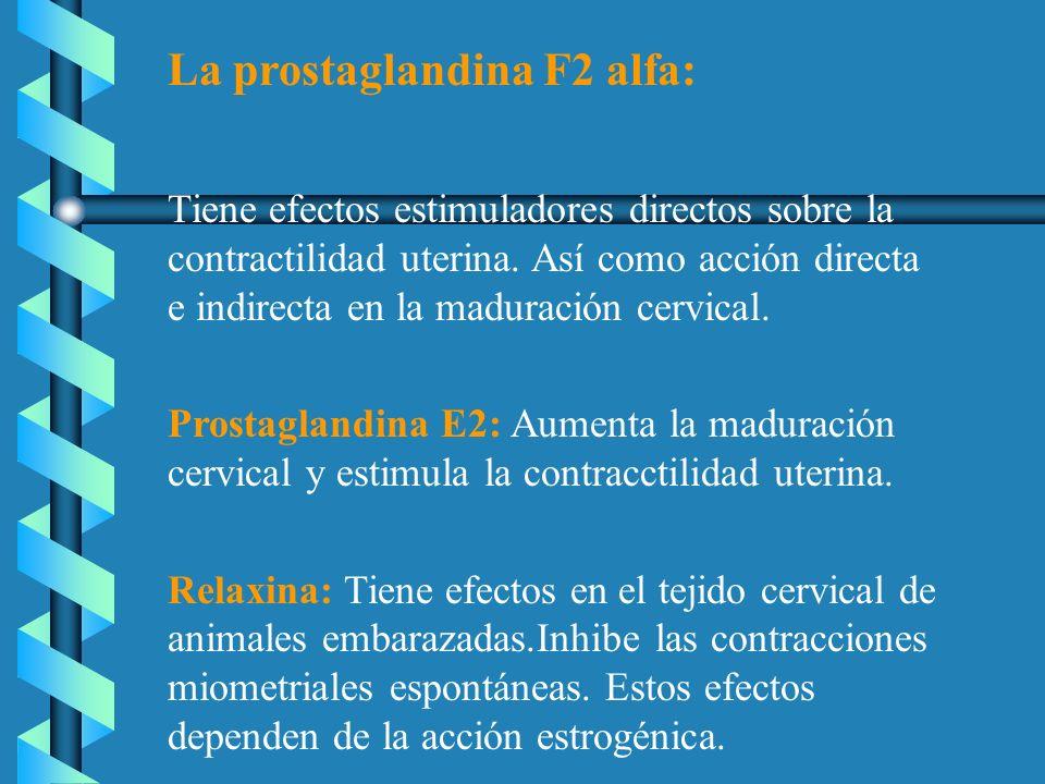 La prostaglandina F2 alfa: