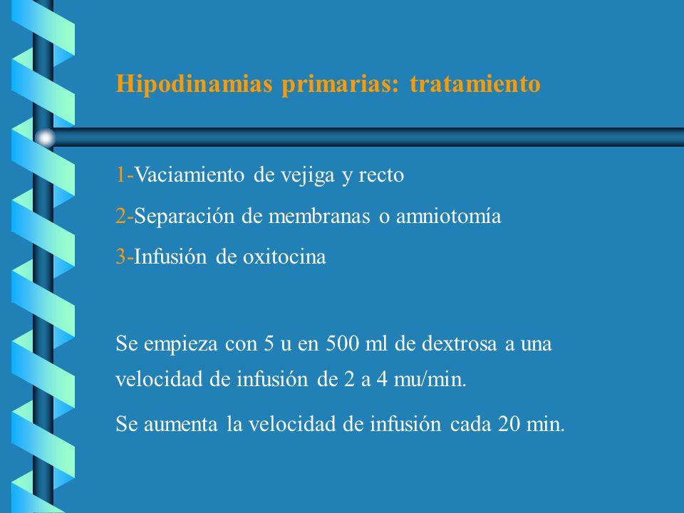 Hipodinamias primarias: tratamiento