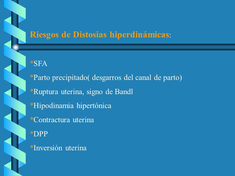 Riesgos de Distosias hiperdinámicas: