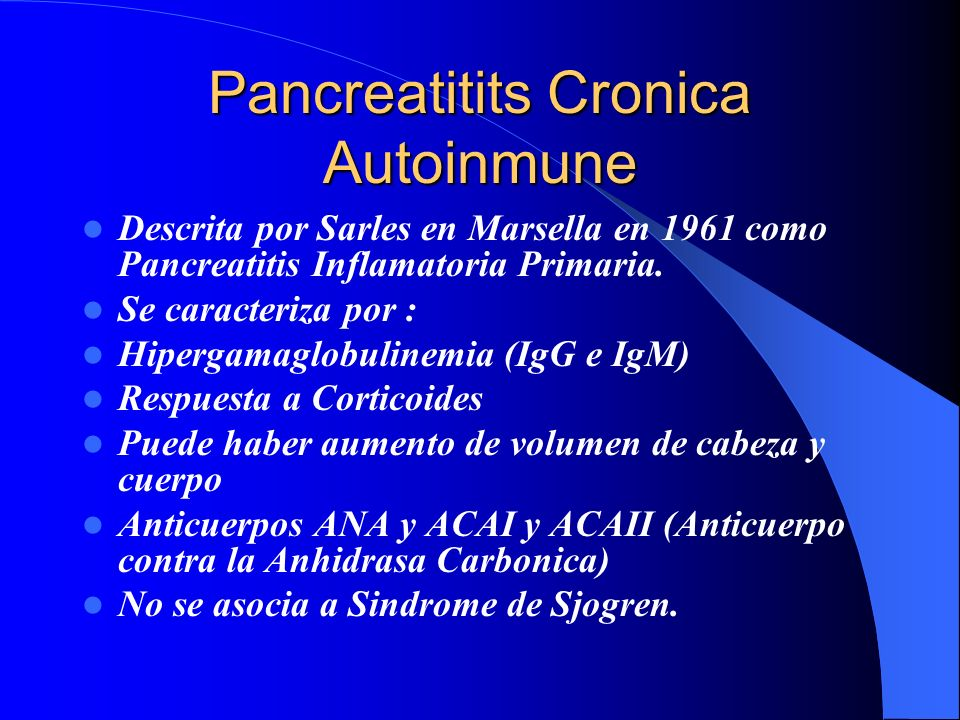 Pancreatitits Cronica Autoinmune