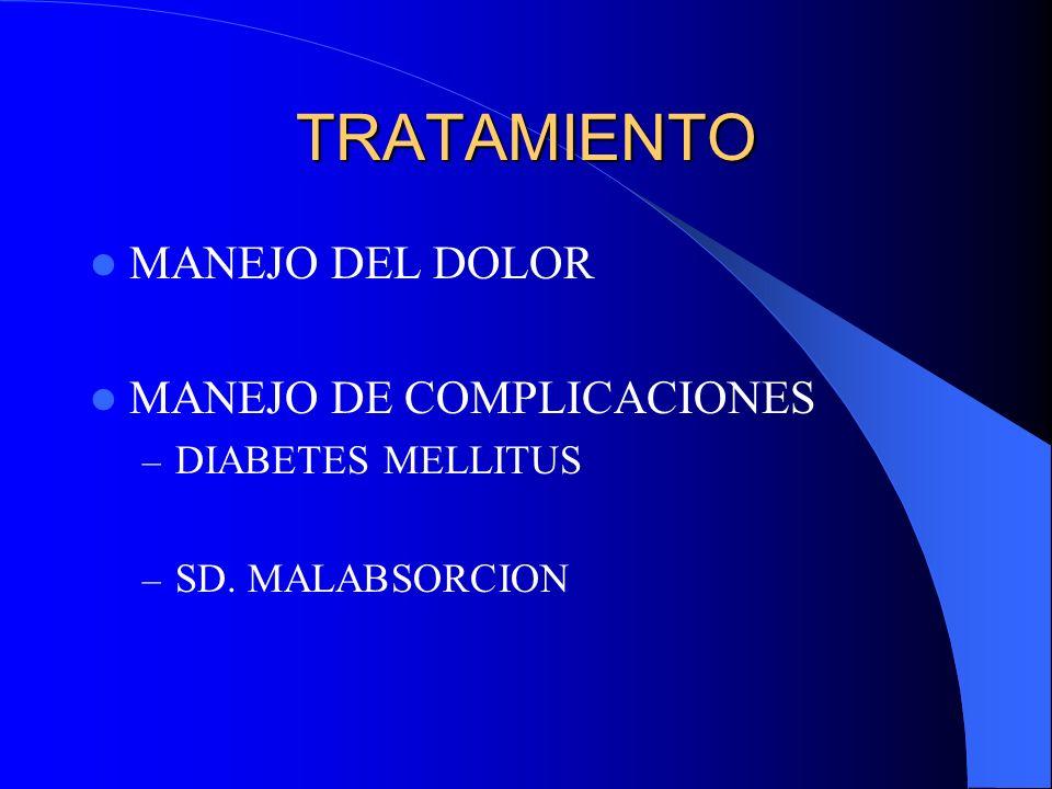 TRATAMIENTO MANEJO DEL DOLOR MANEJO DE COMPLICACIONES
