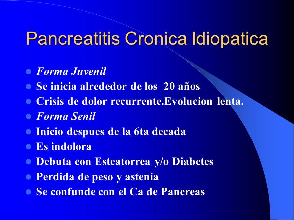 Pancreatitis Cronica Idiopatica