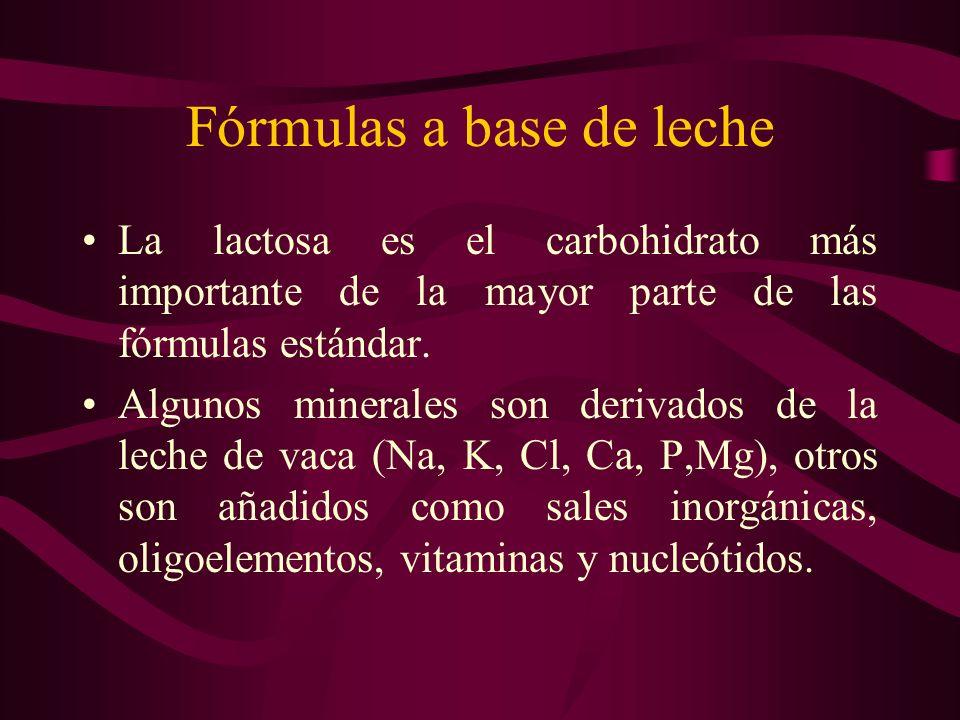 Fórmulas a base de leche