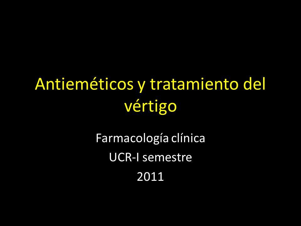 Antieméticos y tratamiento del vértigo