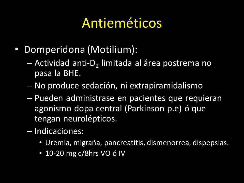 Antieméticos Domperidona (Motilium):