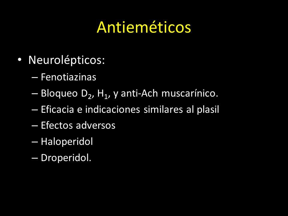 Antieméticos Neurolépticos: Fenotiazinas