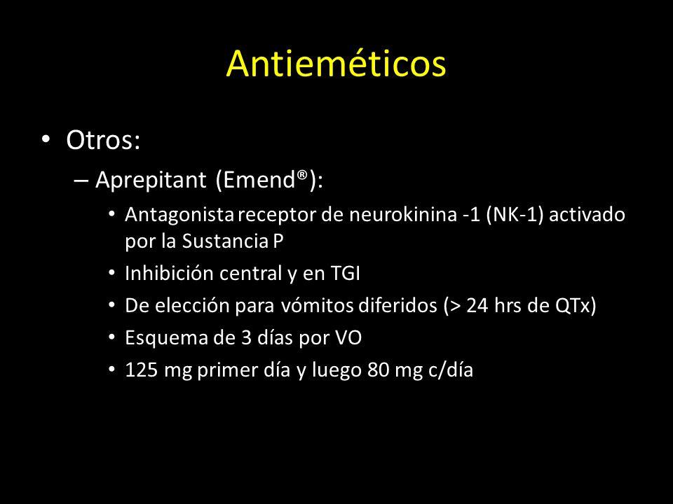 Antieméticos Otros: Aprepitant (Emend®):