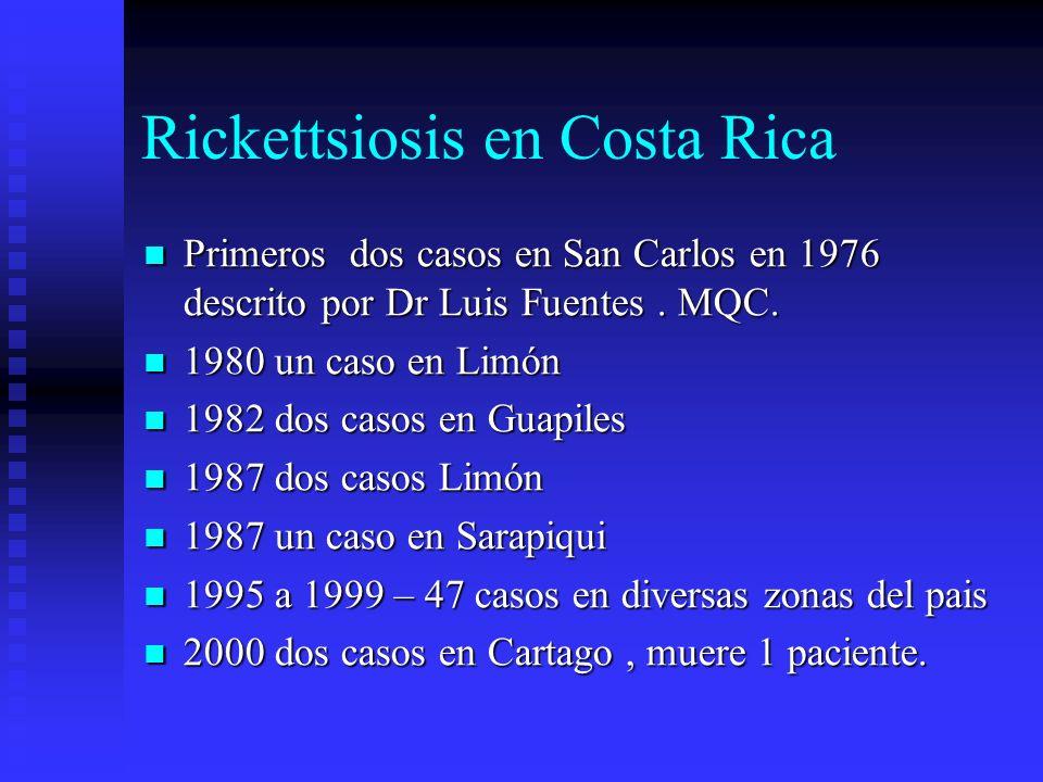 Rickettsiosis en Costa Rica