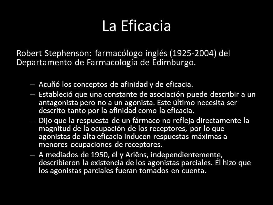 La Eficacia Robert Stephenson: farmacólogo inglés (1925-2004) del Departamento de Farmacología de Edimburgo.