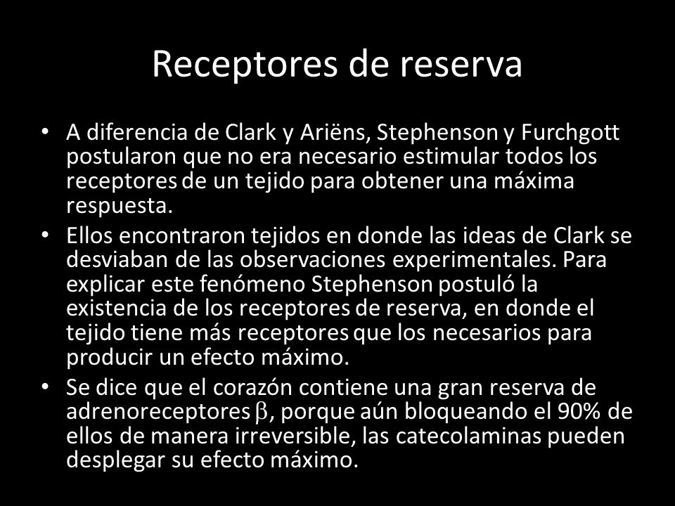 Receptores de reserva