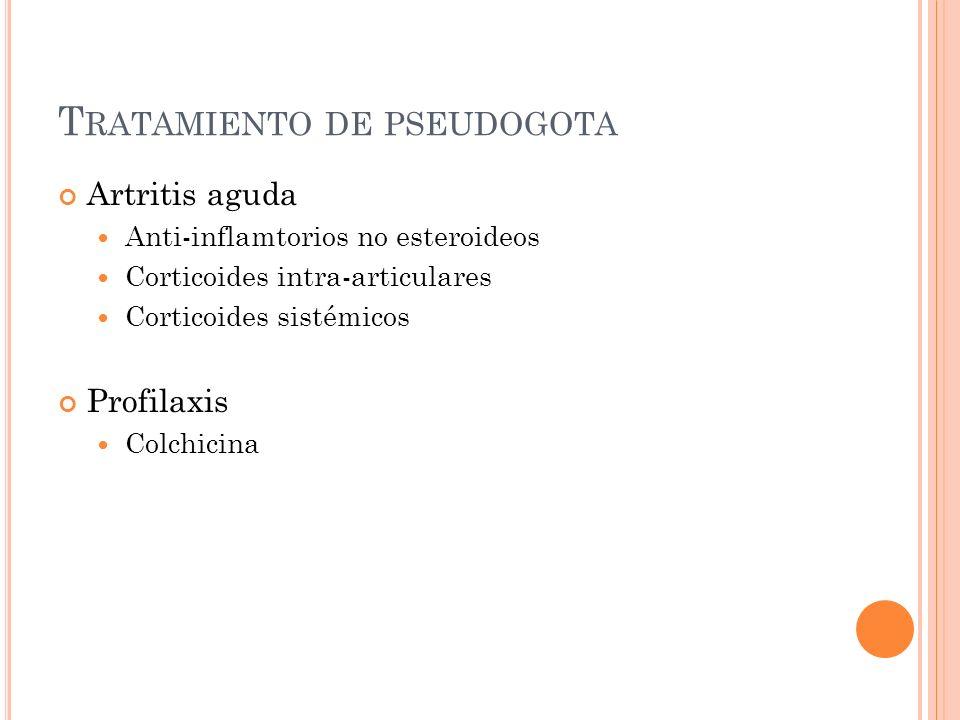 Tratamiento de pseudogota