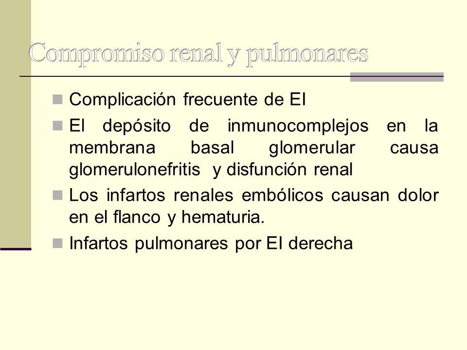 Compromiso renal y pulmonares
