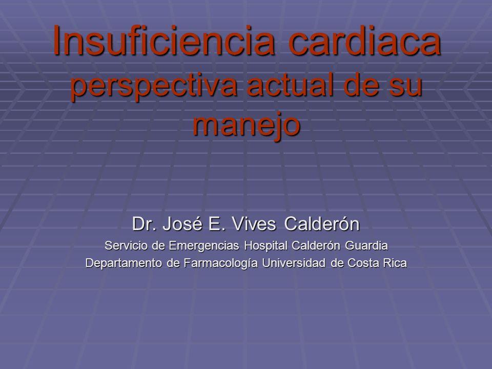 Insuficiencia cardiaca perspectiva actual de su manejo