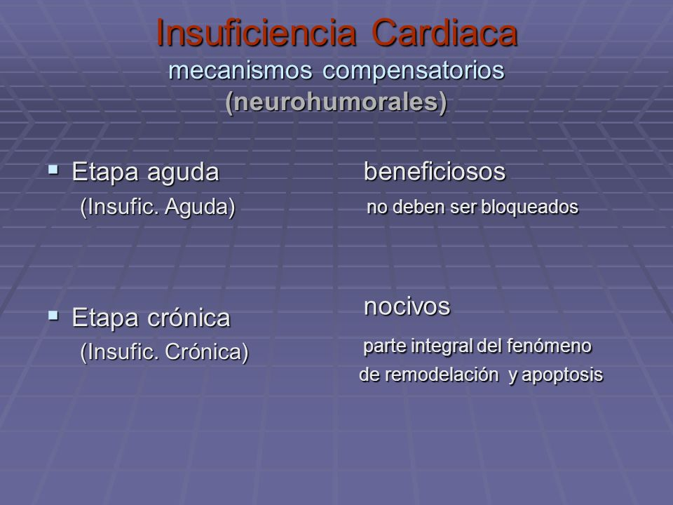 Insuficiencia Cardiaca mecanismos compensatorios (neurohumorales)