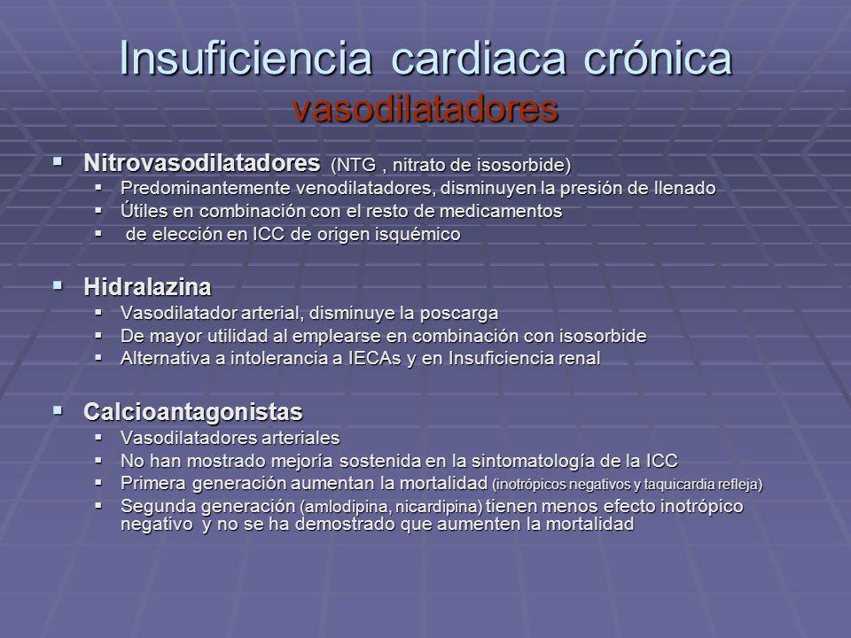 Insuficiencia cardiaca crónica vasodilatadores