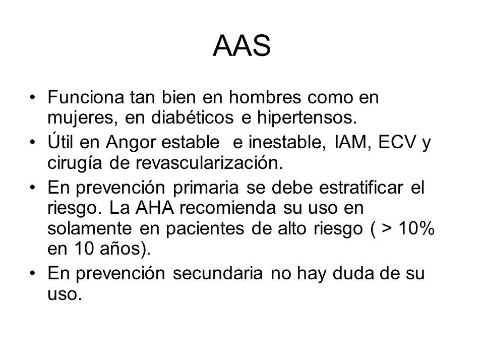 AAS Funciona tan bien en hombres como en mujeres, en diabéticos e hipertensos.