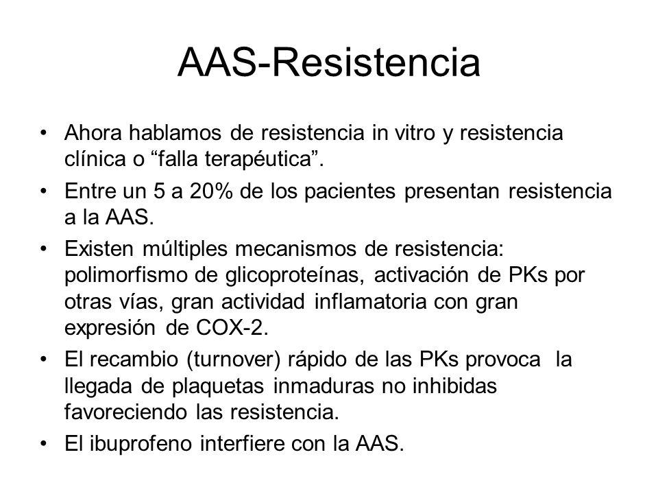 AAS-Resistencia Ahora hablamos de resistencia in vitro y resistencia clínica o falla terapéutica .