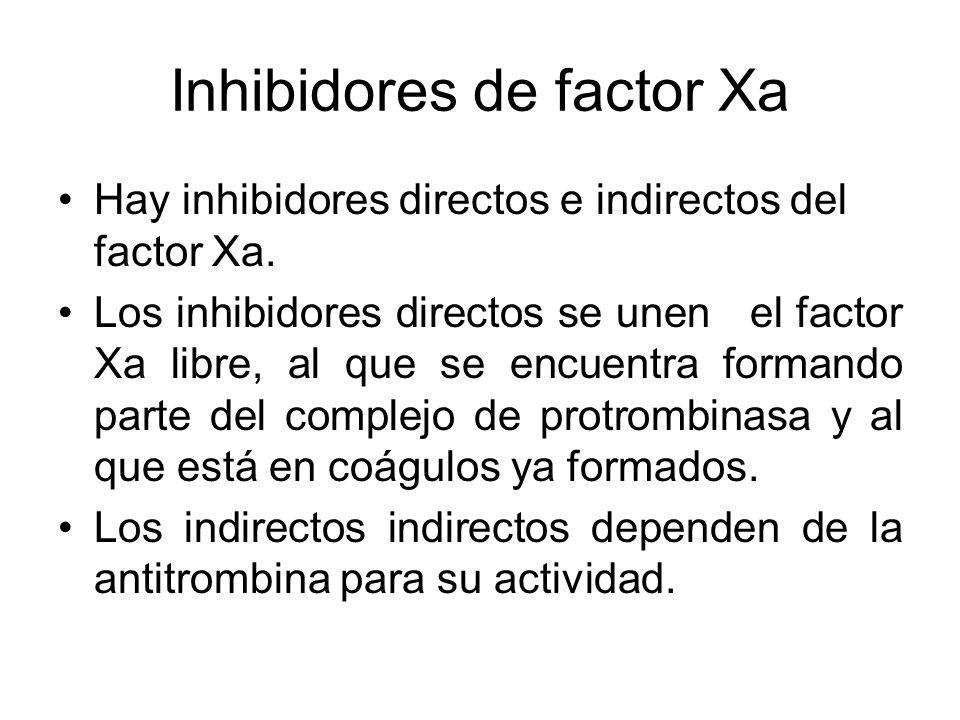Inhibidores de factor Xa