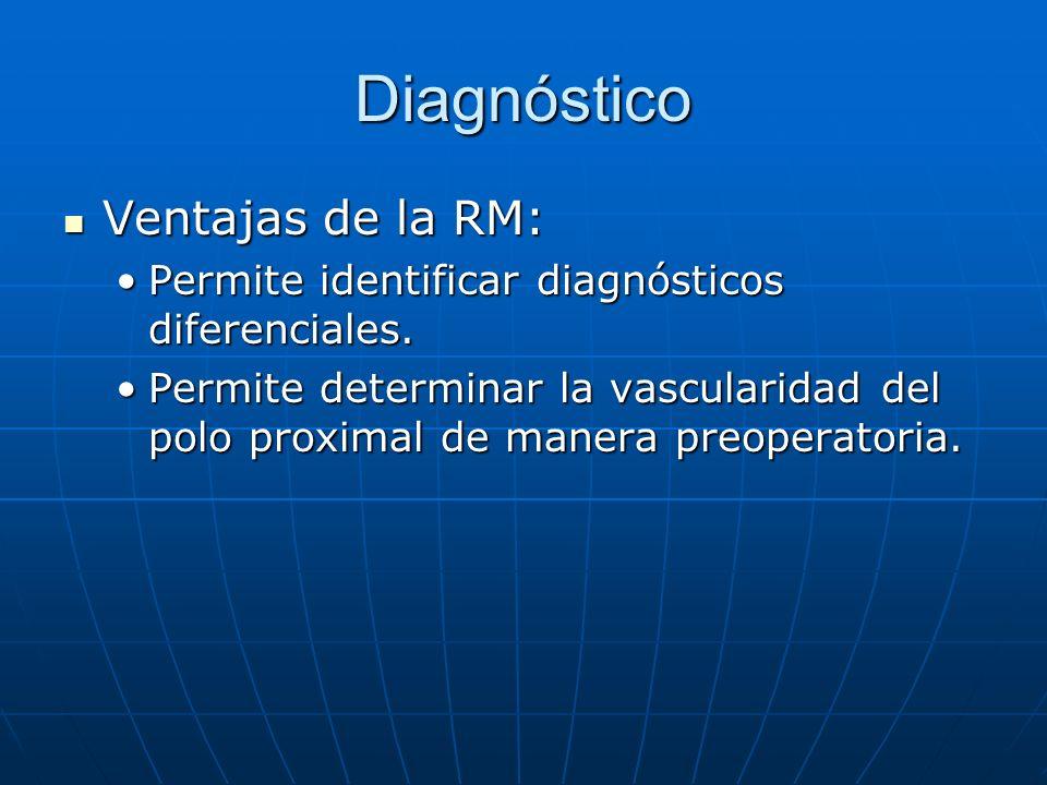 Diagnóstico Ventajas de la RM: