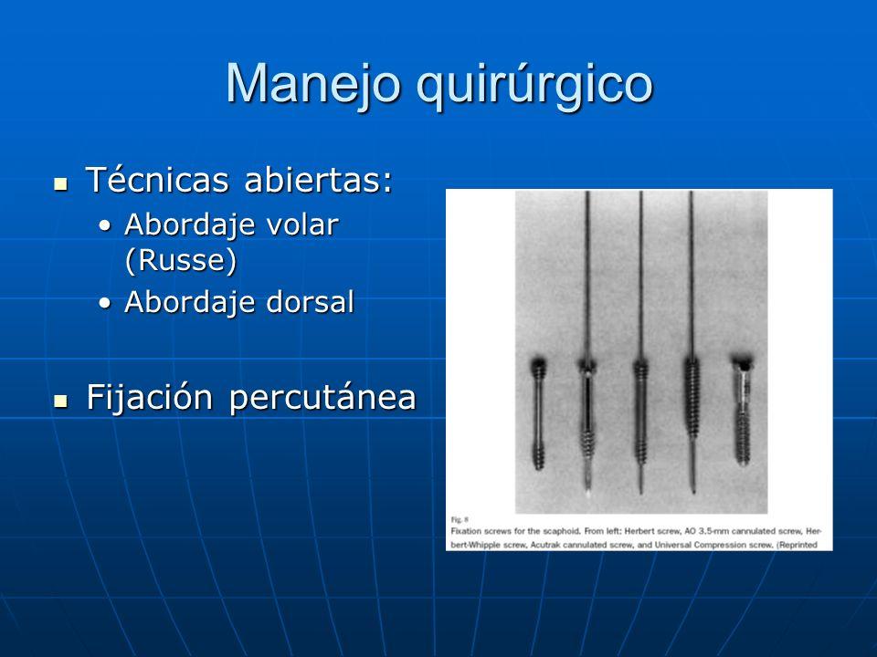 Manejo quirúrgico Técnicas abiertas: Fijación percutánea