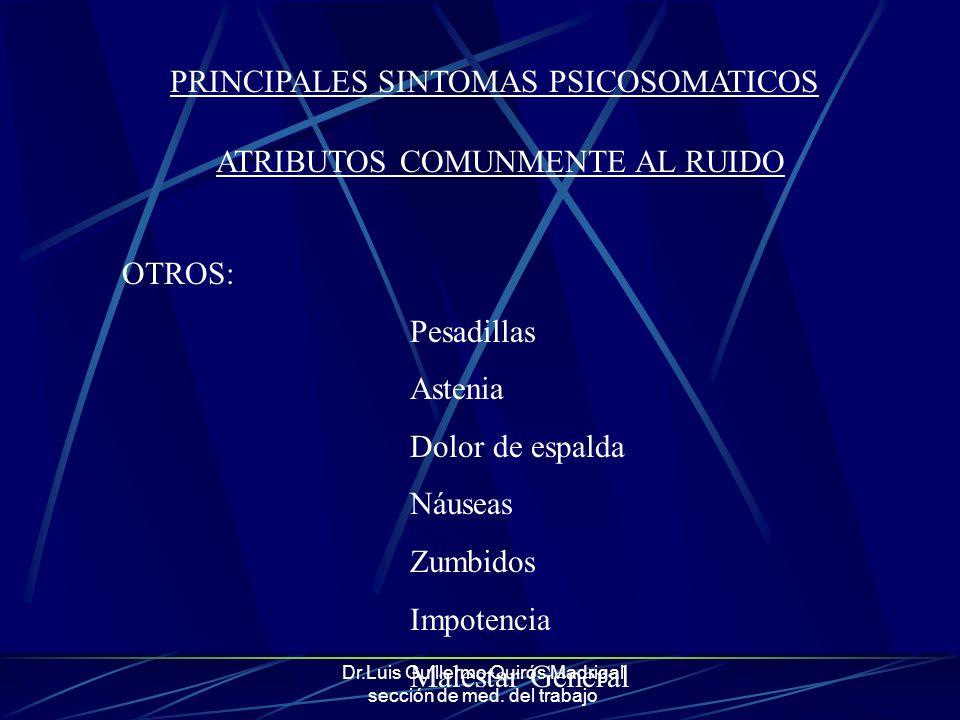 PRINCIPALES SINTOMAS PSICOSOMATICOS