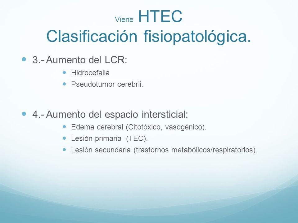 Viene HTEC Clasificación fisiopatológica.