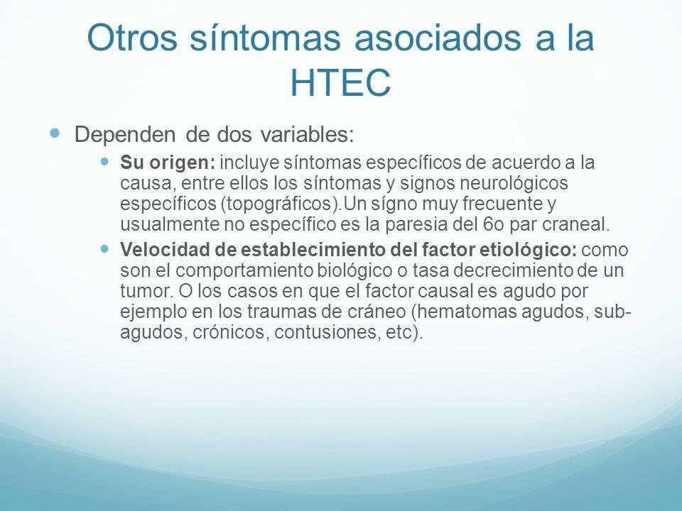 Otros síntomas asociados a la HTEC