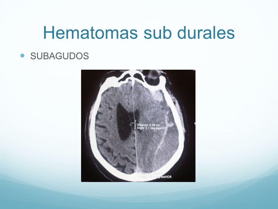 Hematomas sub durales SUBAGUDOS