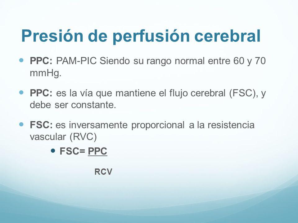 Presión de perfusión cerebral