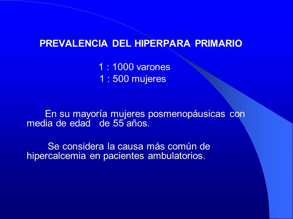 PREVALENCIA DEL HIPERPARA PRIMARIO