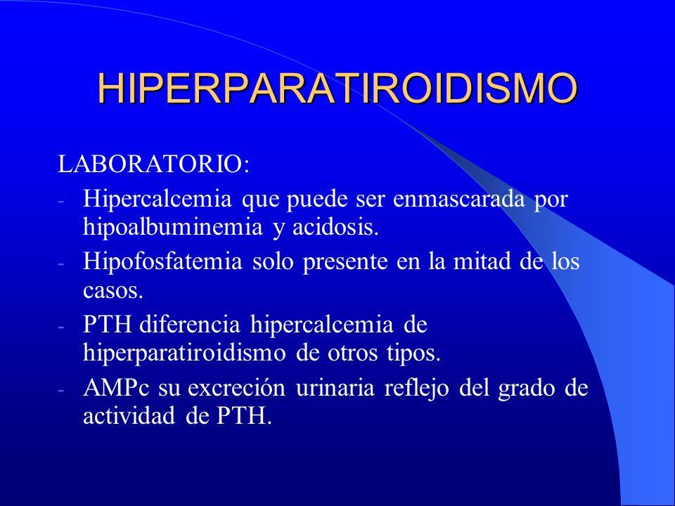 HIPERPARATIROIDISMO LABORATORIO: