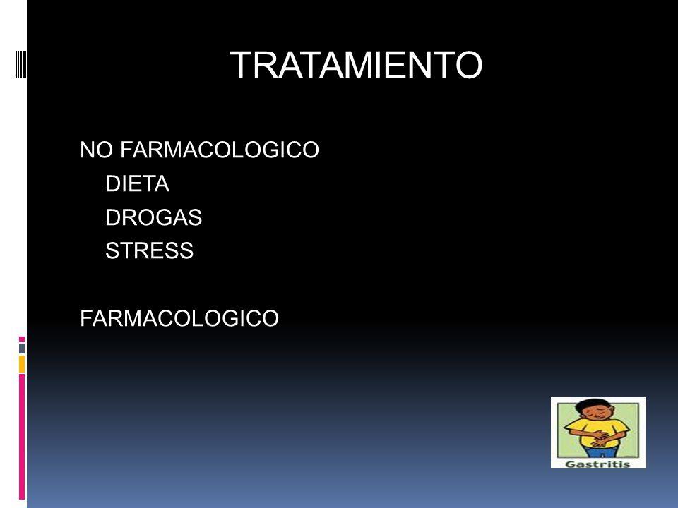 TRATAMIENTO NO FARMACOLOGICO DIETA DROGAS STRESS FARMACOLOGICO