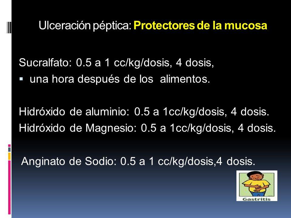 Ulceración péptica: Protectores de la mucosa