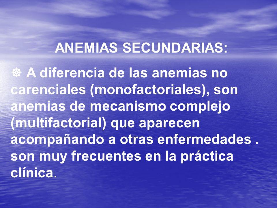 ANEMIAS SECUNDARIAS: