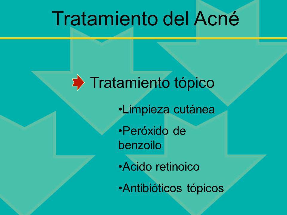 Tratamiento del Acné Tratamiento tópico Limpieza cutánea