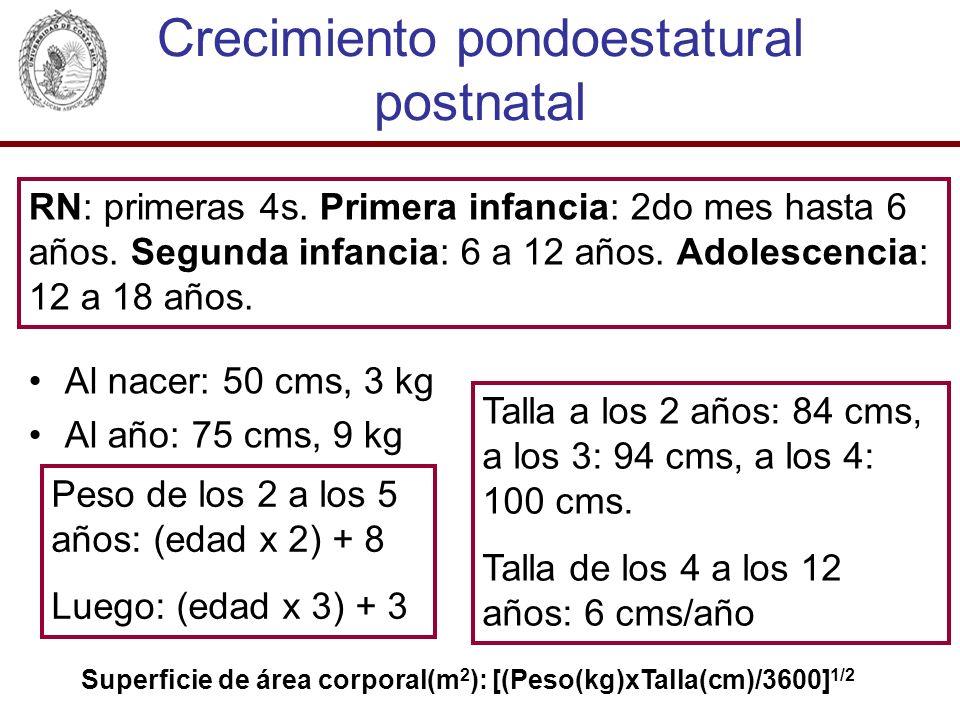 Crecimiento pondoestatural postnatal