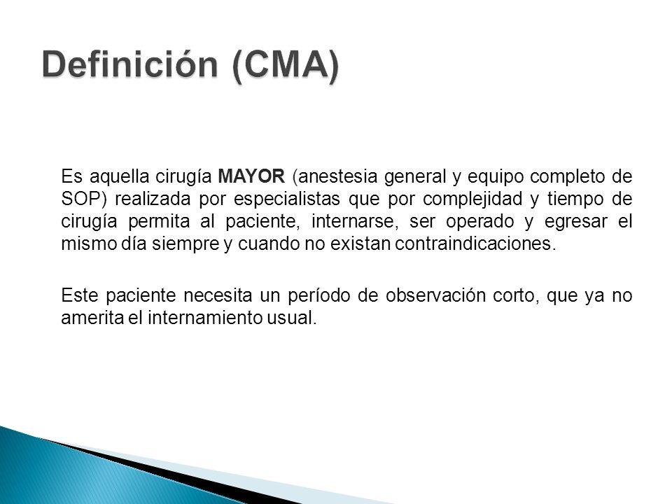 Definición (CMA)