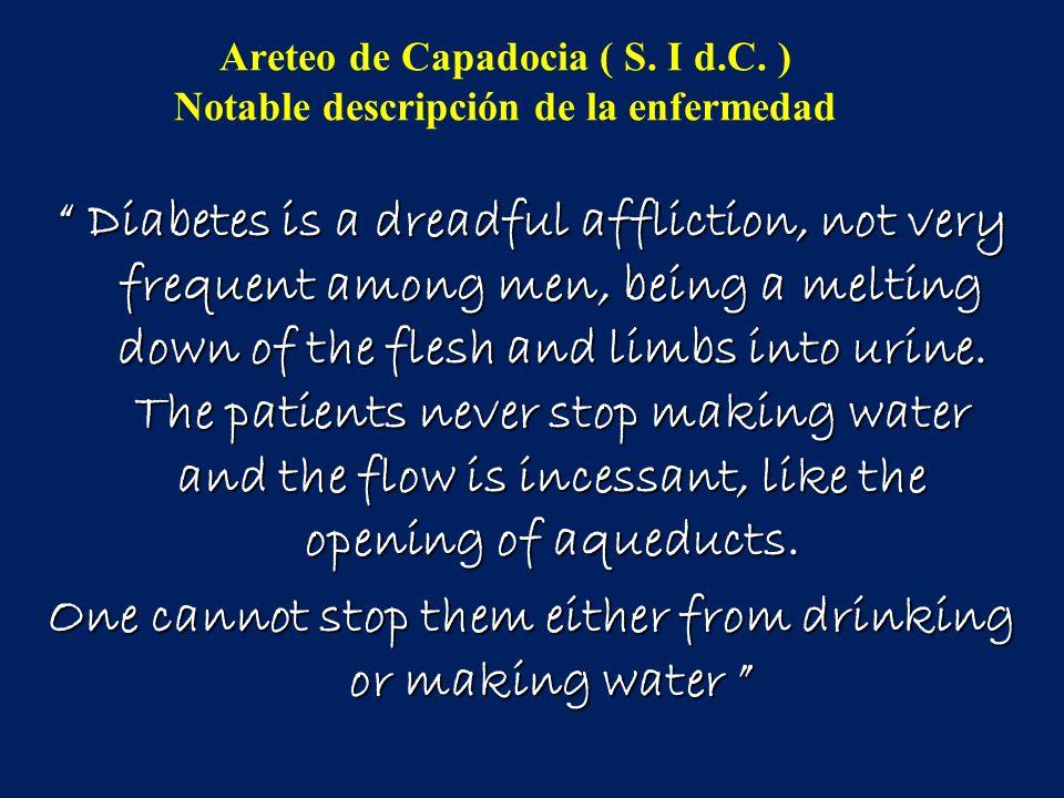 Areteo de Capadocia ( S. I d.C. ) Notable descripción de la enfermedad
