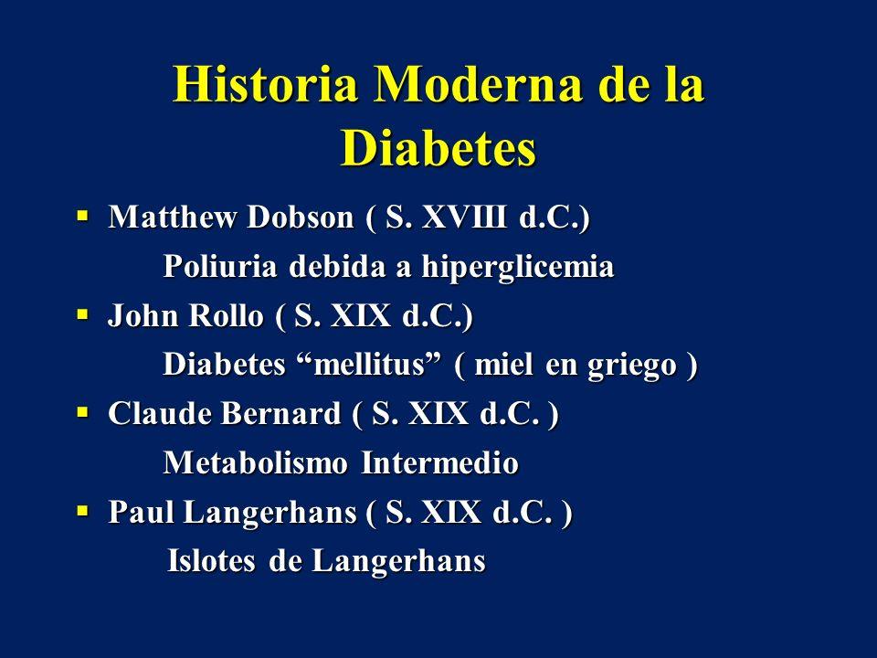 Historia Moderna de la Diabetes