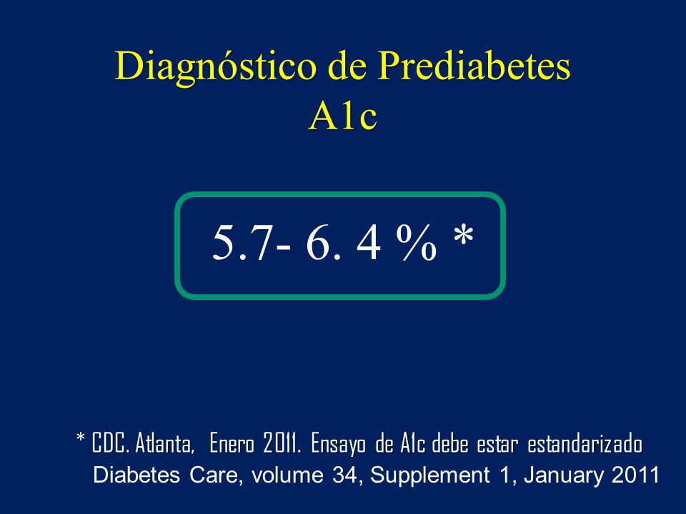 Diagnóstico de Prediabetes A1c