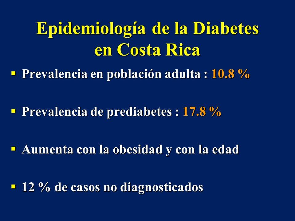 Epidemiología de la Diabetes en Costa Rica